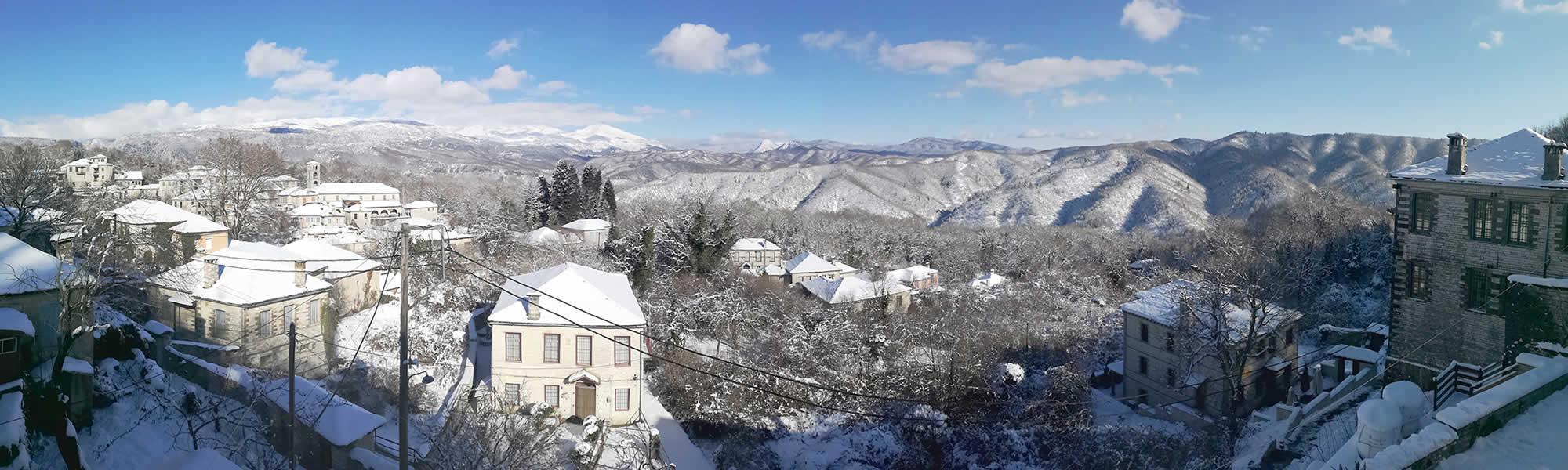 Χιόνια στο Δίλοφο, Ιανουάριος 2019, Ξενώνας Βέρα